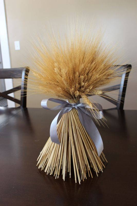 Dried Wheat Bundle Centerpiece Weddingbee Photo Gallery