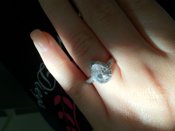 My 2 Carat Pear Shaped Ring Im SO In Love Weddingbee