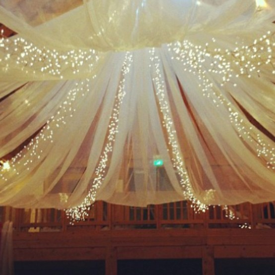 Canopy Bed Decorated Lights