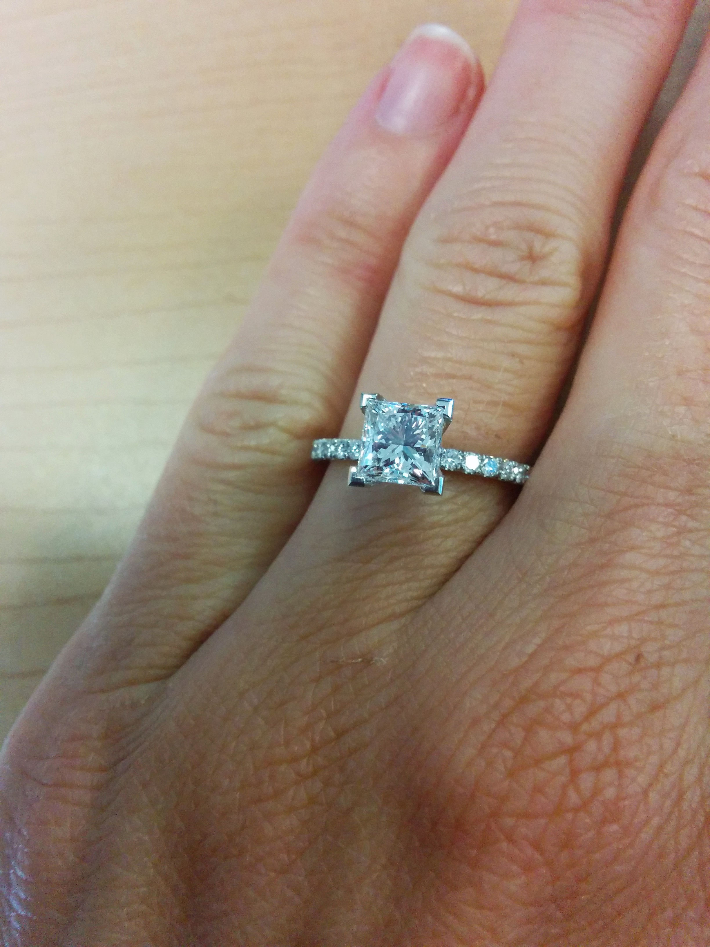 Wanting To See 1 2 Carat Princess Cut Solitaires On A 45
