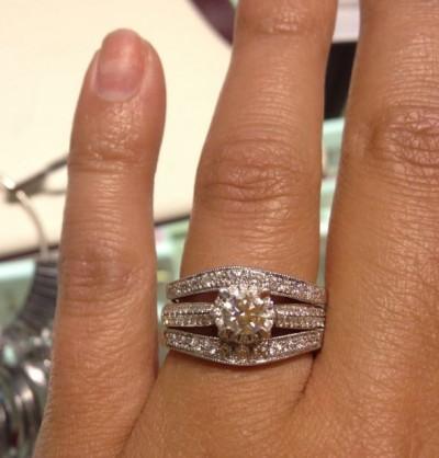 Show Me Your Wedding Bandengagement Ring Gap