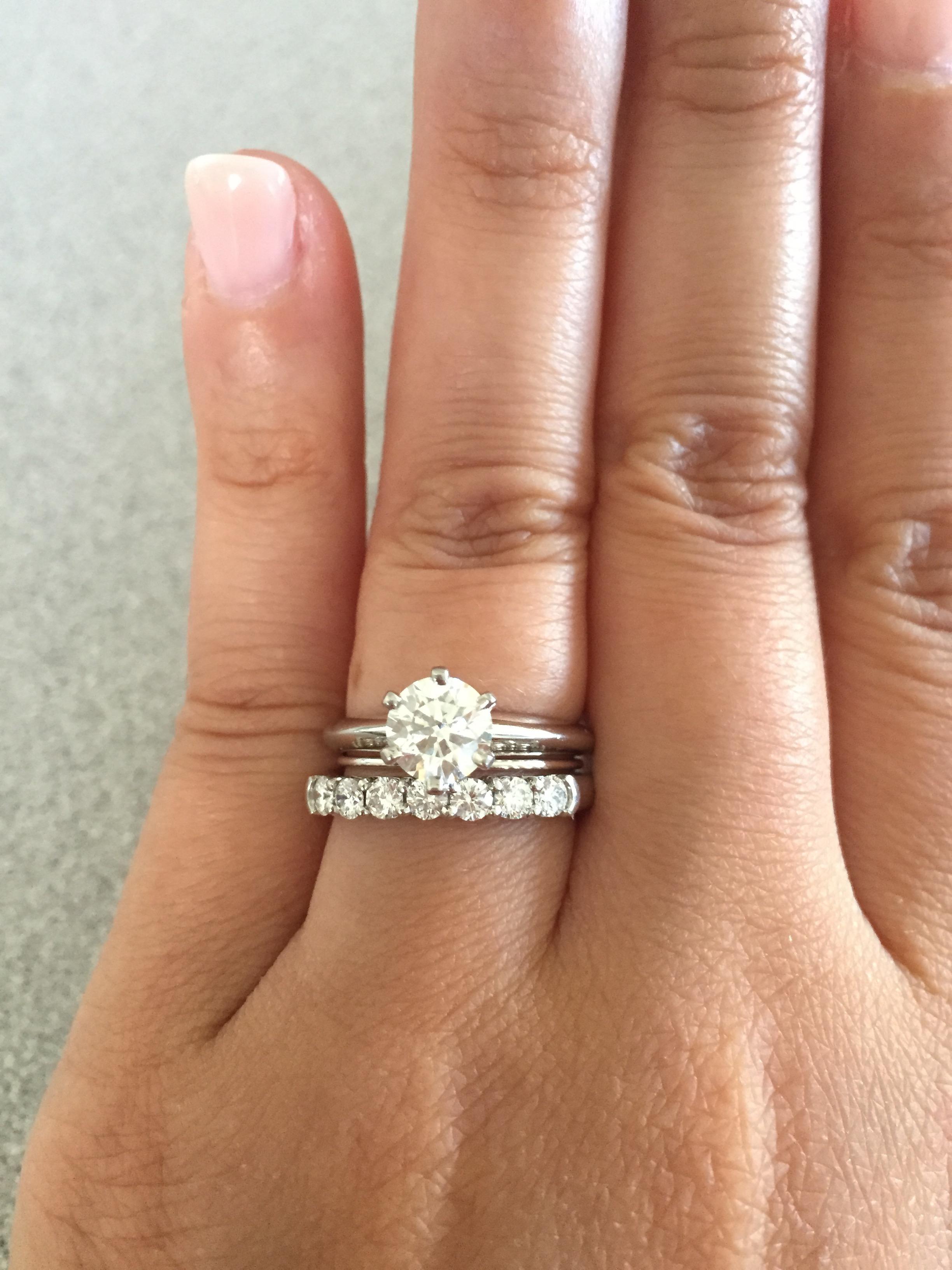 Tiffany Solitaire With Flush Wedding Band Weddingbee