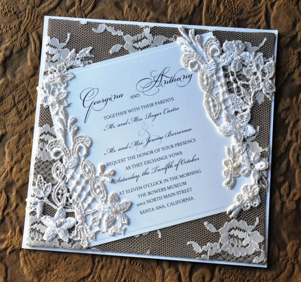 Lace For Wedding Invitations Diy