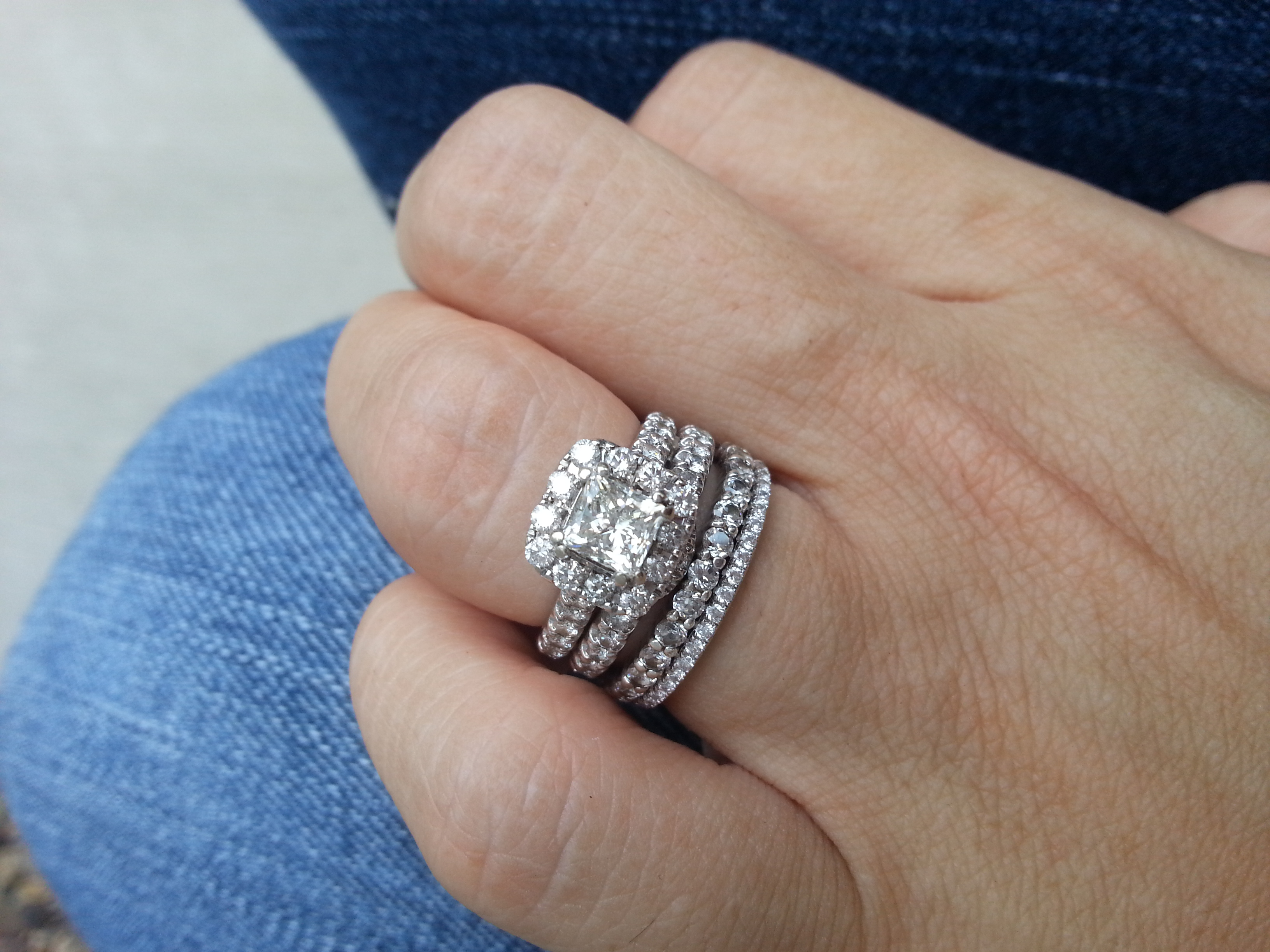 Please Show Me Your Stacked Rings E Rings Wedding Bands