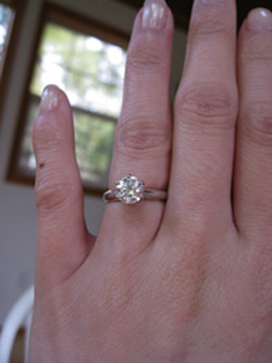 Wedding Rings With Engraved Solitaire Diamond Ring With