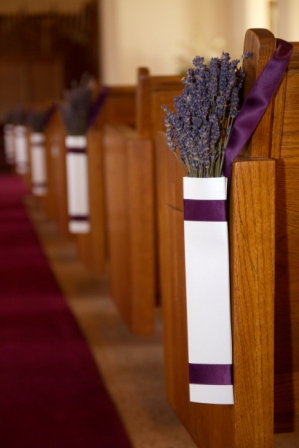 Our Lavender Prism Pew Ends Weddingbee Photo Gallery