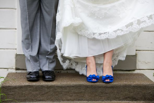 Colored Shoes With Wedding Gown?
