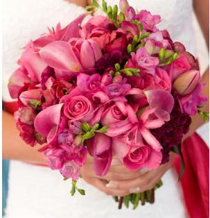 Bridal Bouquets :  wedding flowers Pinkbo