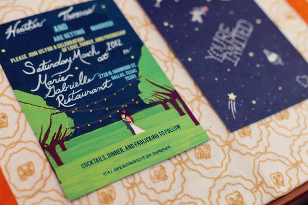 Blood, Sweat, and Paper Cuts: Invites Revealed :  wedding dallas diy invitations stationery A Wbinvite3 A_WBInvite3