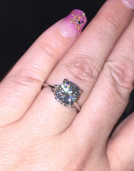 Real Engagement Rings Moissanite Weddingbee