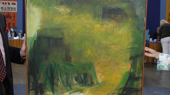 Marie Hull Quot Yellow Hill Quot Oil Painting Ca 1960 Antiques
