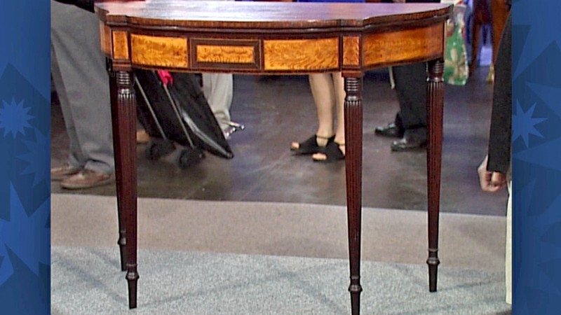 New England Card Table Ca 1800 Antiques Roadshow PBS