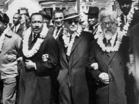 Heschel marching with Dr. King