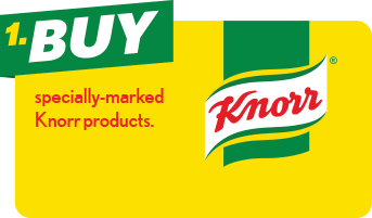 1. Buy specially-marked Knorr products.