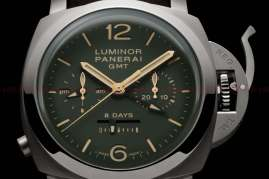 Officine Panerai Luminor 1950 Chrono Monopulsante 8 Days GMT Titanio PAM00737_price_0-100