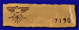 Goldfinger Nazi Hoard Gold Bar