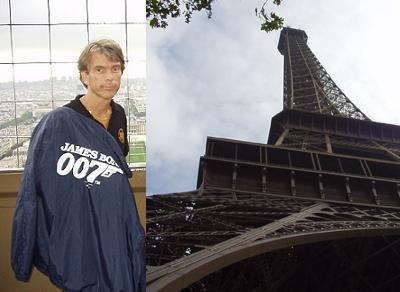 """James Bond Gunnar Schäfer i Paris i Eiffeltower from """"A View To A Kill"""""""