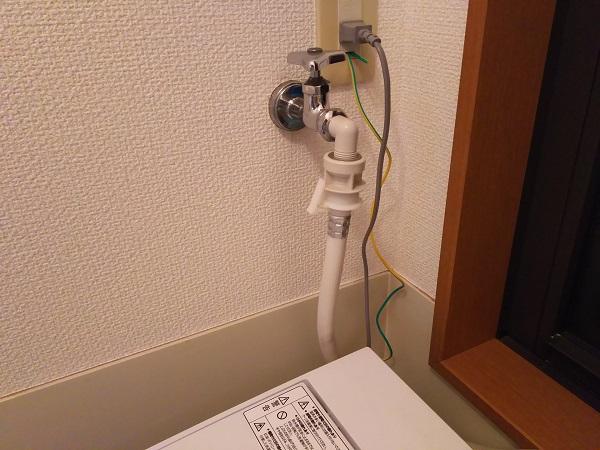 大阪市大正区にて洗濯蛇口の水漏れの事例
