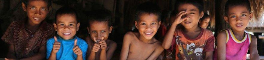 Children in Sumba island