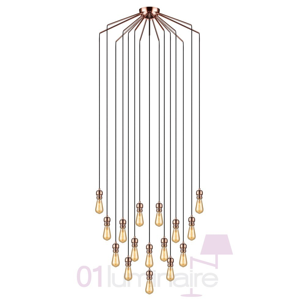 Suspension Oros Cuivre 16 Lumires Ampoule E27 592644