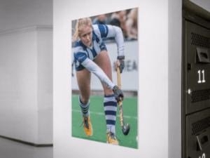 Hockeyfoto als canvas print