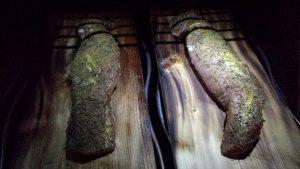 Schweinefilet auf Zedernholzplanke