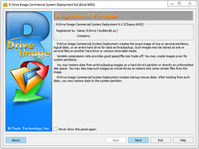 R-Tools R-Drive Image 6.0 Build 6008 Multilingual