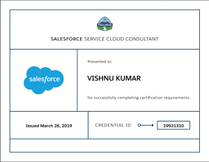 Salesforce Service Cloud Consultant Certification