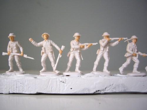 Italeri British Infantry Faces and hands