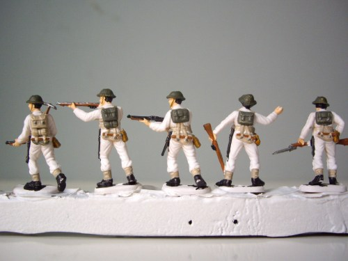 Italeri British Infantry back belting
