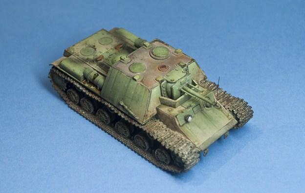 1/72 PST+Zebrano – 72004 – KV-7 (KV-6 SPG) Stalin's Leviathan, Finished