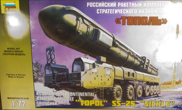 "(NEW) TOPOL SS-25 ""SICKLE"" 1:72 ZVEZDA – 5003 – InBox Review"