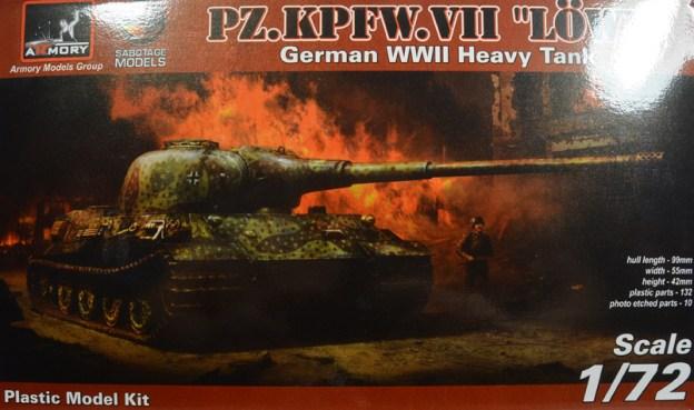 BRAND NEW 1:72 Plastic Kit, Panzerkampfwagen VII Löwe (Armory)