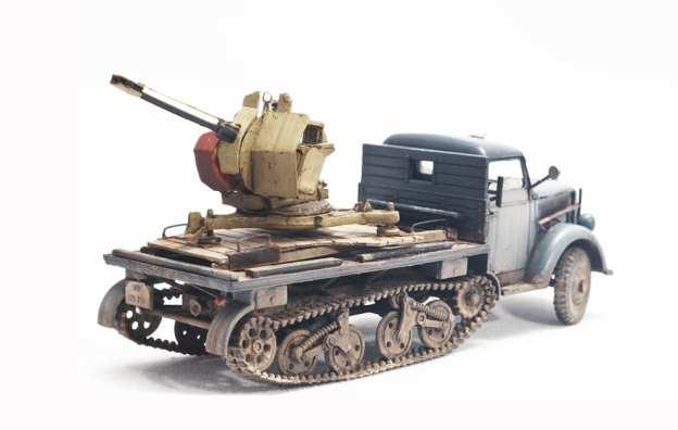 """1/72 – ACE (72294) – Flak 103/38 """"Jaboschreck""""  + RODEN (715) – Opel Maultier"""