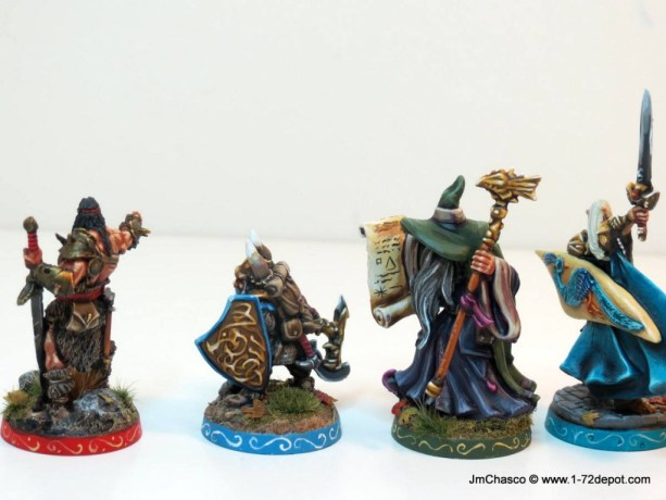 28mm – Reaper Miniatures – Custom HeroQuest Heroes.