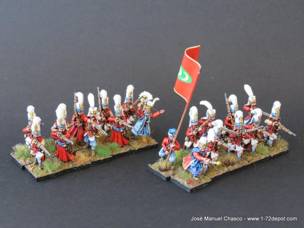 28mm The Assault Group – Warlord Games – Janissaries with Musket (2).