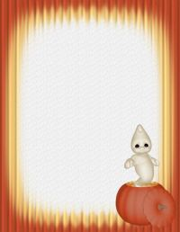 halloween stationery template word