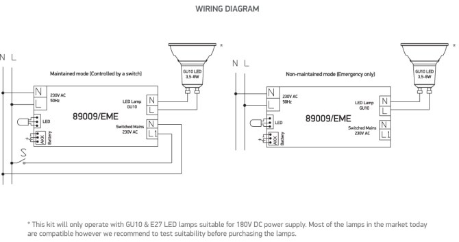 diagram emergency light wiring diagram maintained full