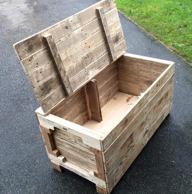 fabriquer coffre en bois rangement