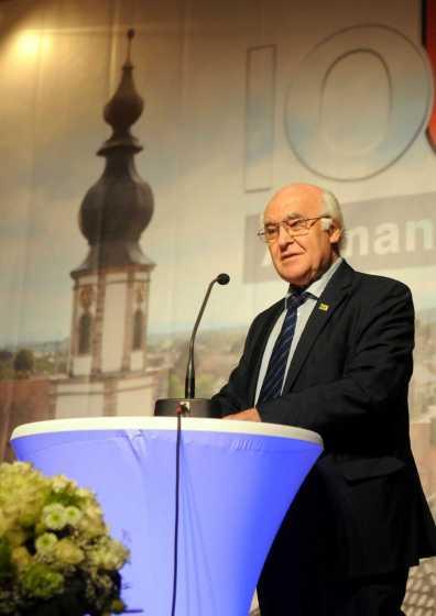 Ehrenbürger Dr. Martin Herrenknecht plauderte aus dem Nähkästchen Foto: W. Künstle