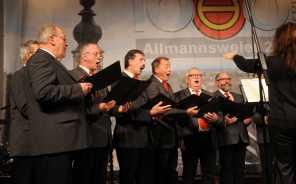 Musikbeitrag des MGV Allmannsweier. Foto: W. Künstle
