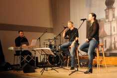 Die Grünloch-Harmonists: M. Schäfer, M. Schütz, J. Kieltsch Foto: W. Künstle