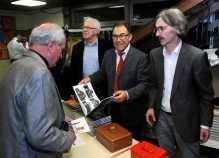 Bildbandstand (von links): Werner Krenkel, Helmut Schäfer und Dr. Thomas Baumann Foto: W. Künstle