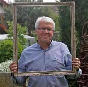 »Allmannsweier ist ein reicher Ort«, sagt Werner Krenkel (66), beispielsweise »reich an netten Menschen«. Foto:© Thorsten Mühl
