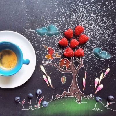 Чинция Болоньезе: рисунок, фотография и еда в одном наборе
