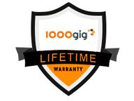 1000 GIG lifetime warranty