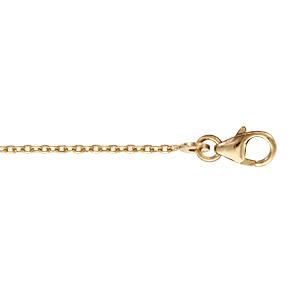chaine en plaque or maille forcat largeur 1 2mm et longueur 40cm