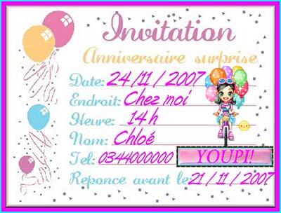 carte d anniversaire