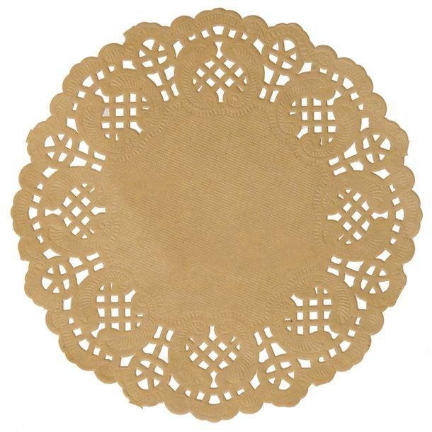 10 sets de table ronds en papier dentelle kraft pour une decoration de table mariage ambiance