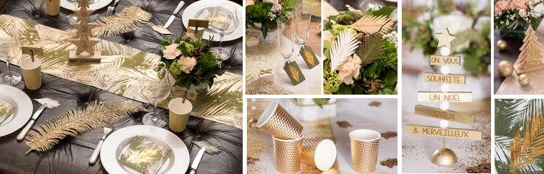 idees de decoration de tables de noel